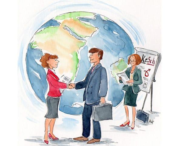 Internationaler Vertragsabschluss